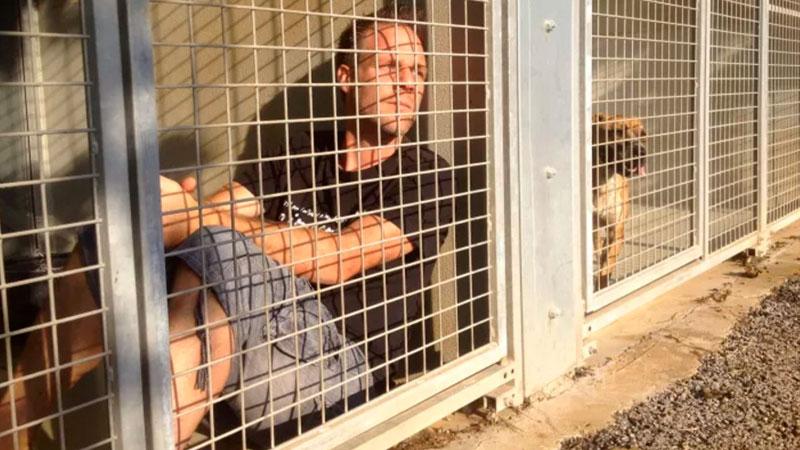 """Lo Youtuber: """"Chiuso in gabbia in canile finché non adotteranno i cani"""""""