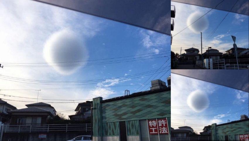Il mistero della nuvola sferica in Giappone