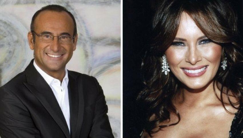 Sanremo 2017: Carlo Conti chiama Melania Trump