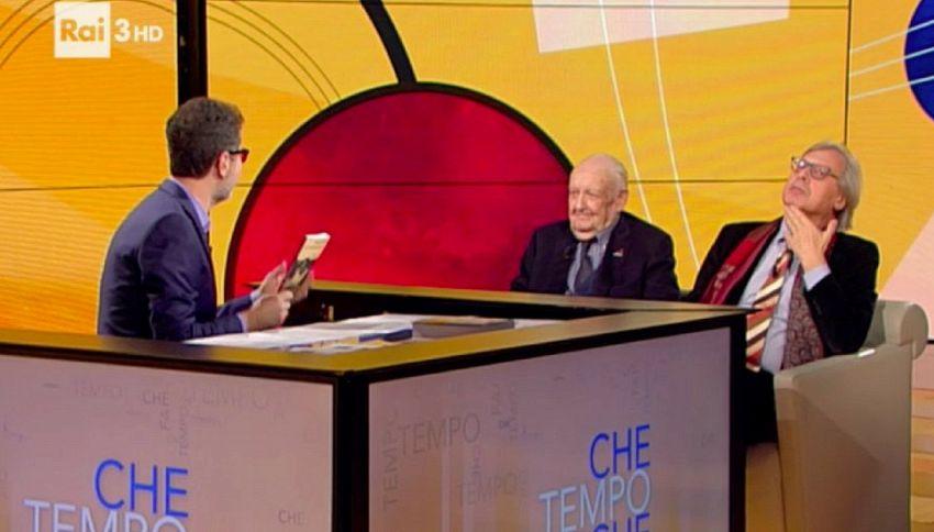 """Sergio e Vittorio Sgarbi da Fabio Fazio: """"Il matrimonio è un atto di diffidenza"""""""