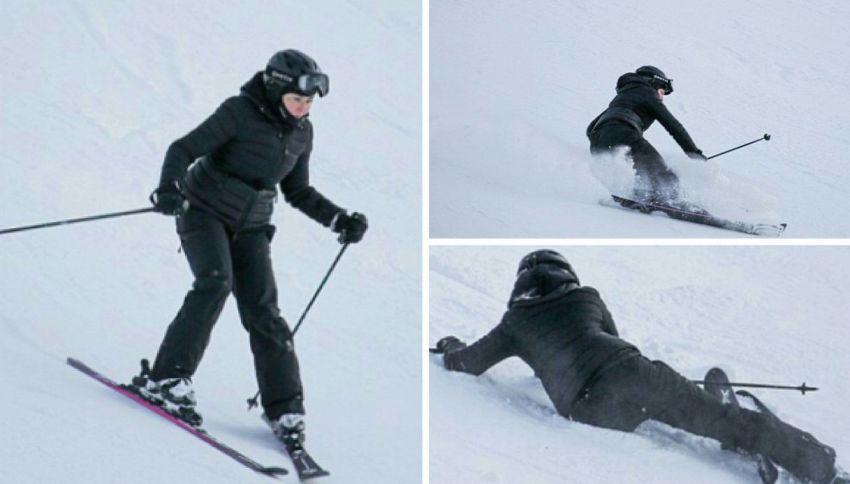 Incidente sulla neve per Madonna: la caduta sugli sci!
