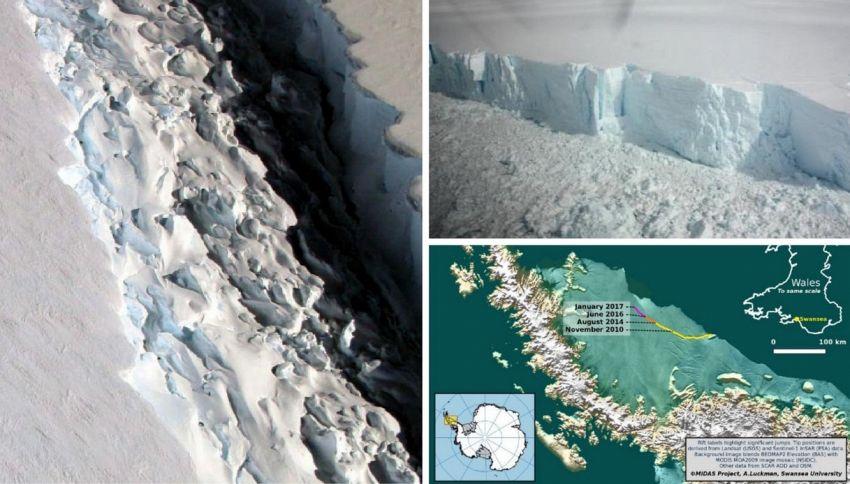 Antartide, il maxi-iceberg (80 km) sta per staccarsi. È allarme