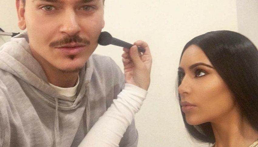 Kim Kardashian si trucca anche le parti intime