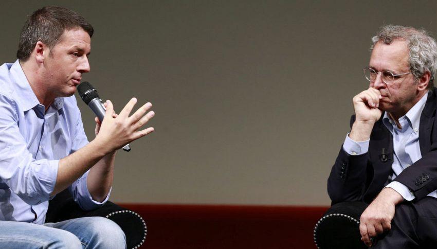 """Mentana non si risparmia su Renzi: """"È geneticamente un bullo"""""""