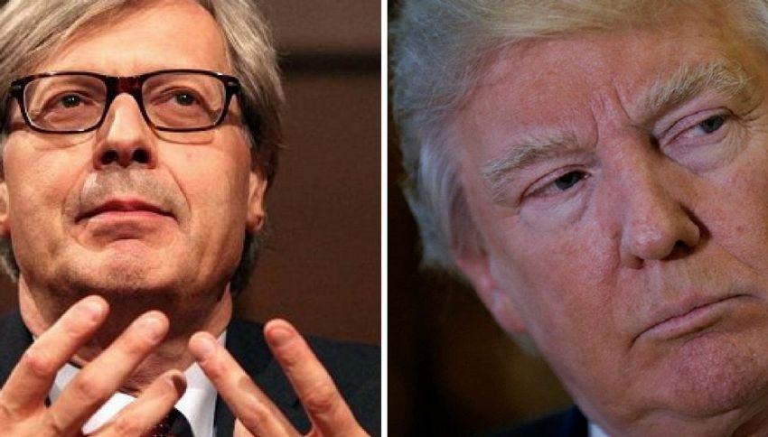 Vittorio Sgarbi scrive a Donald Trump