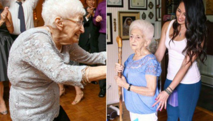 A 85 anni comincia a fare yoga. Il suo corpo cambia completamente
