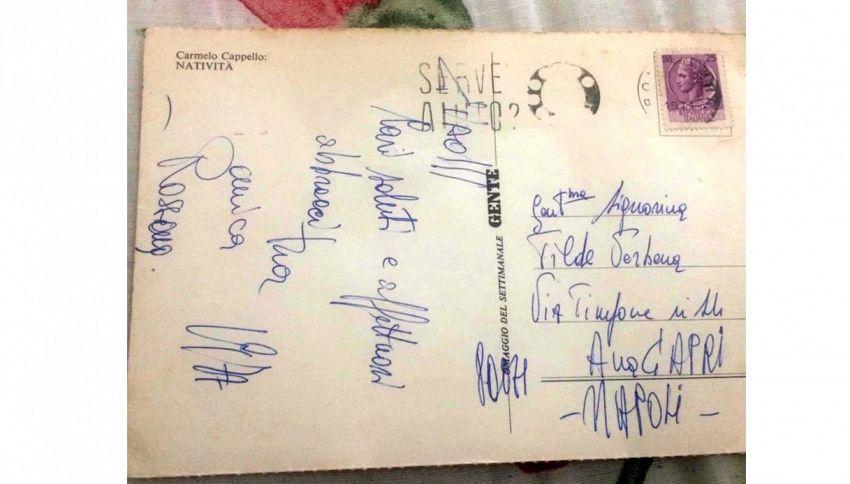 Capri, cartolina d'auguri di Natale recapitata 43 anni dopo