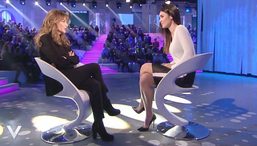 Battibecco in diretta tra Silvia Toffanin e Giuliana De Sio