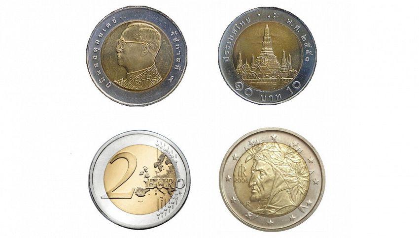25 centesimi per 2 euro: la truffa delle monete thailandesi