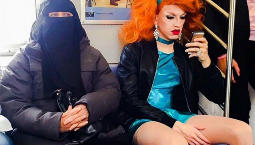 La Drag Queen e la donna con il niqab: la foto divide l'America