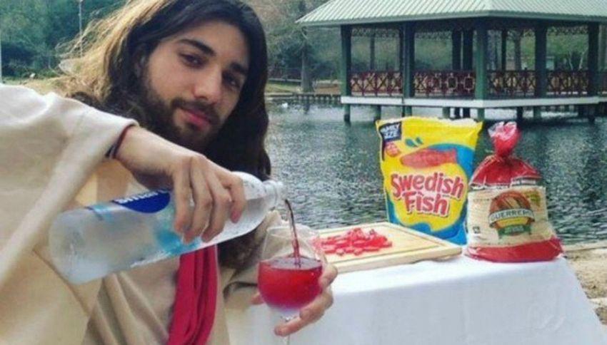 Gesù cerca l'amore su Tinder