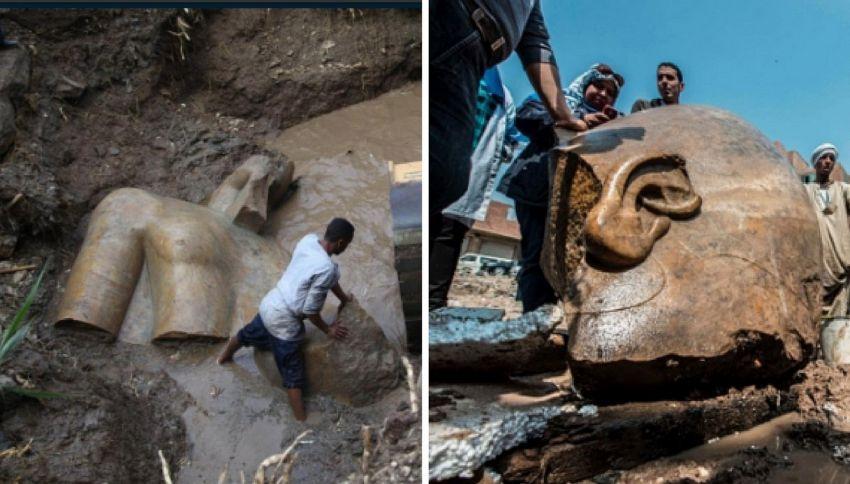 Ramses fa capolino dalle acque: scoperta epocale in Egitto
