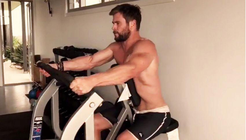 L'allenamento massacrante di Chris Hemsworth è virale
