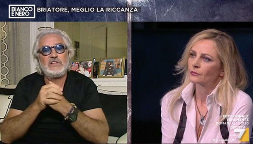 Flavio Briatore contro Luisella Costamagna: scintille in diretta