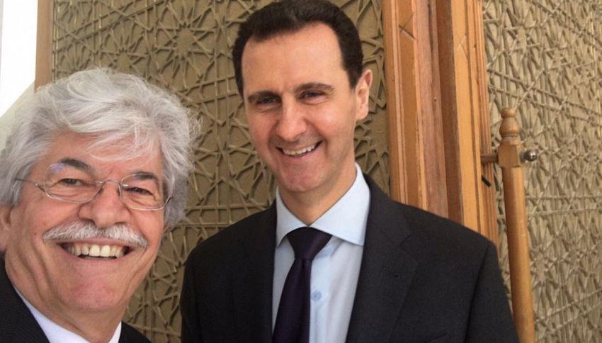 Il selfie con Assad: la sconcertante spiegazione di Razzi
