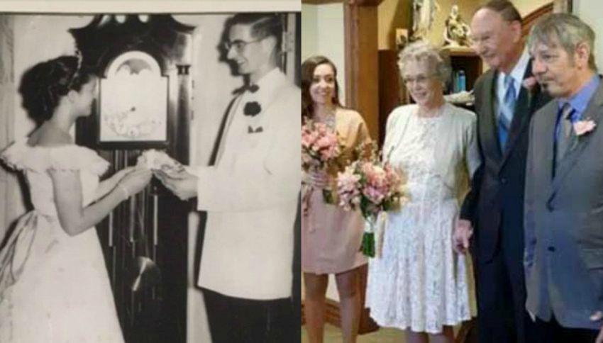 Si innamorano al liceo, si ritrovano 64 anni dopo e si sposano