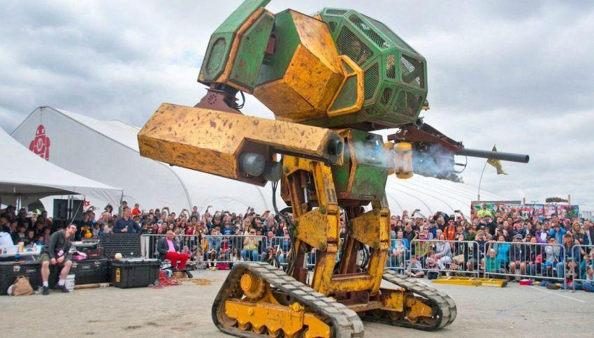 Megabot Vs Kurats: i robot giganti combattono in tv