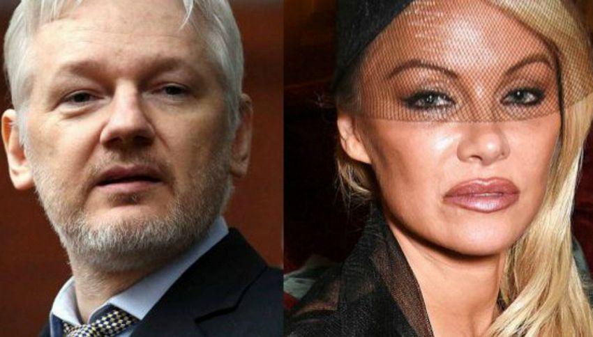 "Pamela Anderson conferma: ""Amo Julian Assange"""