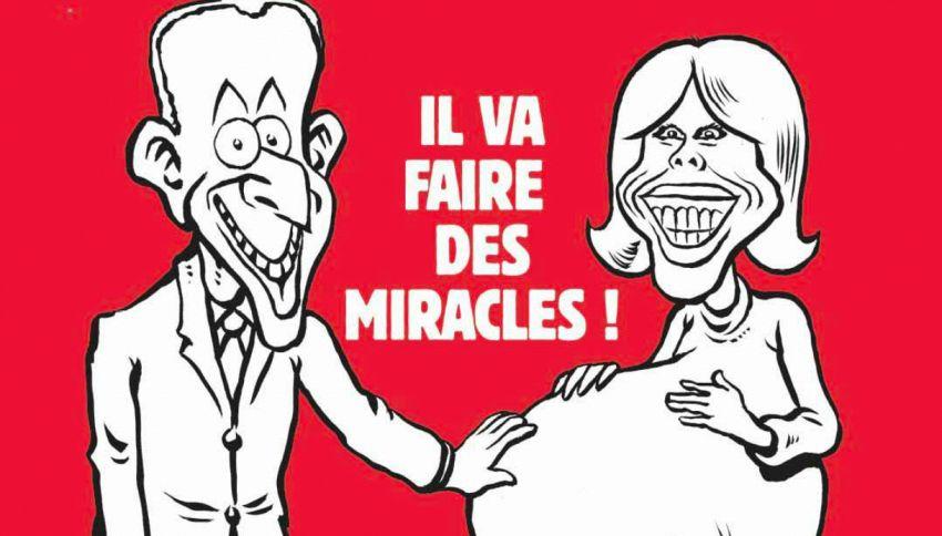 La vignetta di Charlie Hebdo su Brigitte Macron