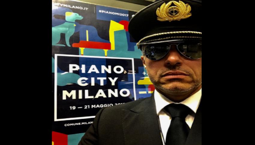 Enrico Giaretta, pianista e pilota Alitalia