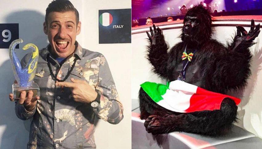 La scimmia lascia Gabbani. Il divorzio è social