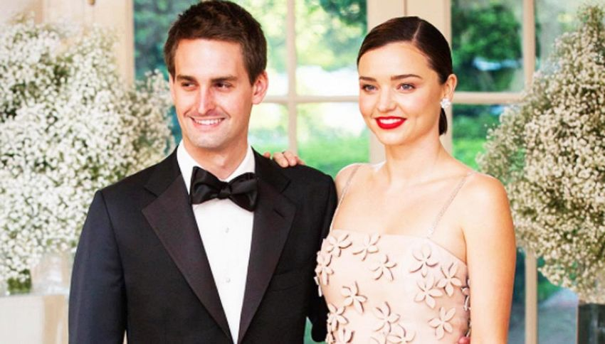 Miranda Kerr si è sposata in gran segreto col n.1 di Snapchat