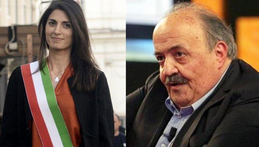 """Maurizio Costanzo contro la Raggi: """"È totalmente incapace"""""""