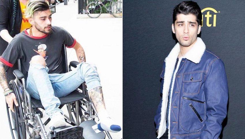 Zayn Malik in sedia a rotelle: allarme tra i fan