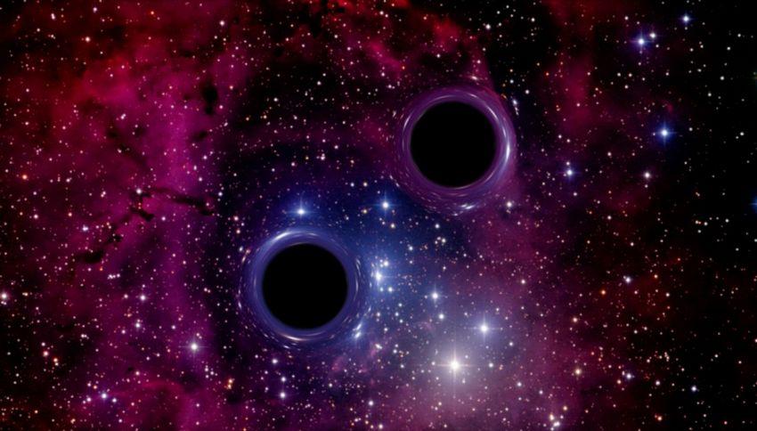 Due buchi neri si sono scontrati cambiando spazio e tempo