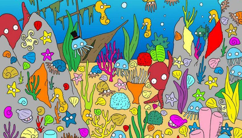 Trova il pesce in fondo al mare: il rompicapo dell'estate