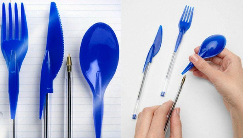 La penna-forchetta che ti farà risparmiare tempo in ufficio