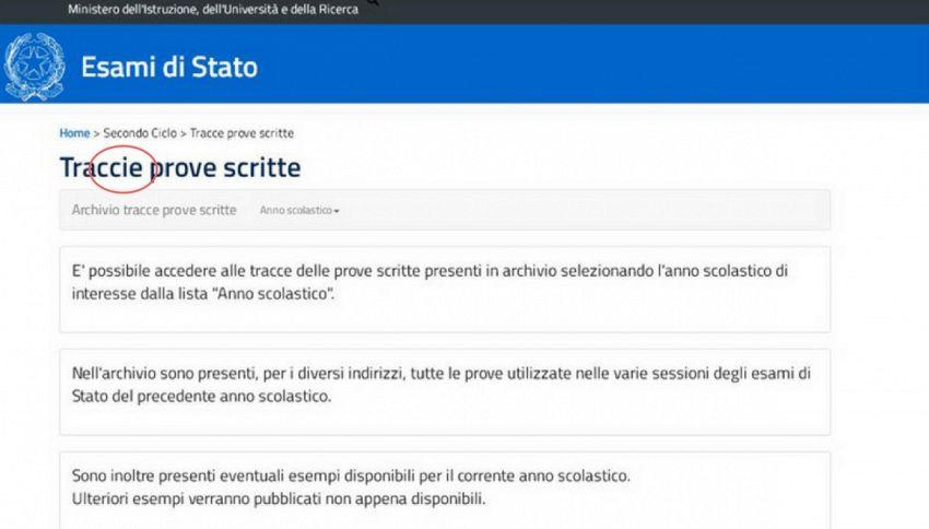 """Errore nelle """"tracce"""": sbaglia il Ministero sugli esami di Stato"""