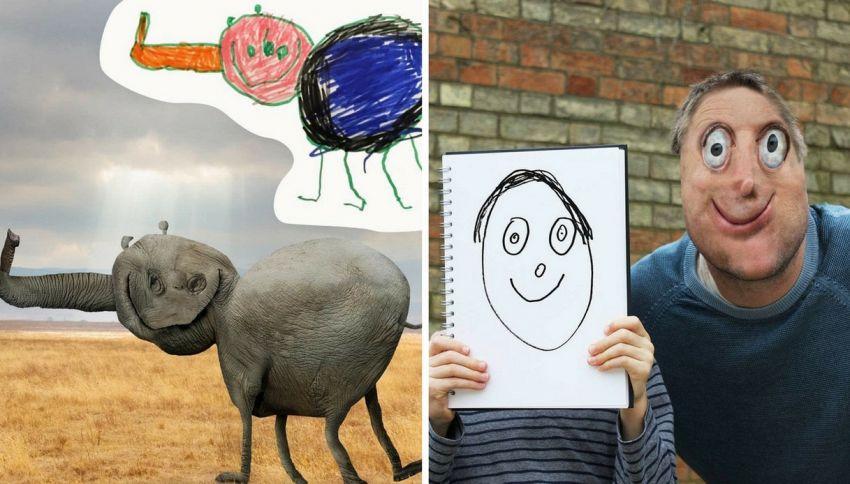 Un papà trasforma i disegni del figlio in realtà