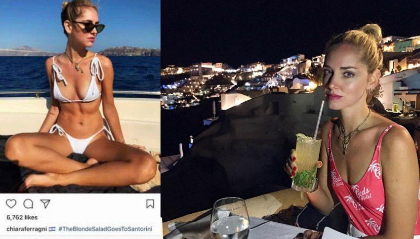 Chiara Ferragni è in Grecia, ma posta la bandiera di Israele