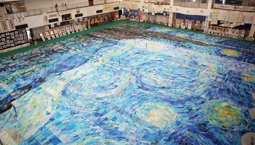 In Cina 10mila studenti per riprodurre un'opera di Van Gogh