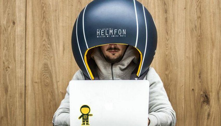 Helmfon: il casco per non sentire le chiacchiere della gente