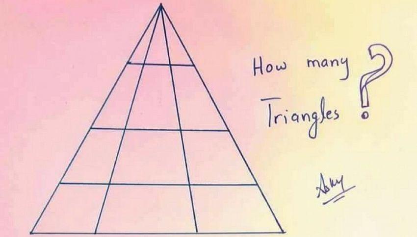 Quanti triangoli ci sono in questa immagine?