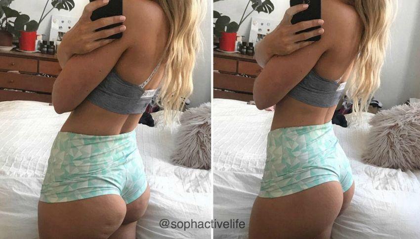 Come far sparire la cellulite dalle foto che postiamo sui social