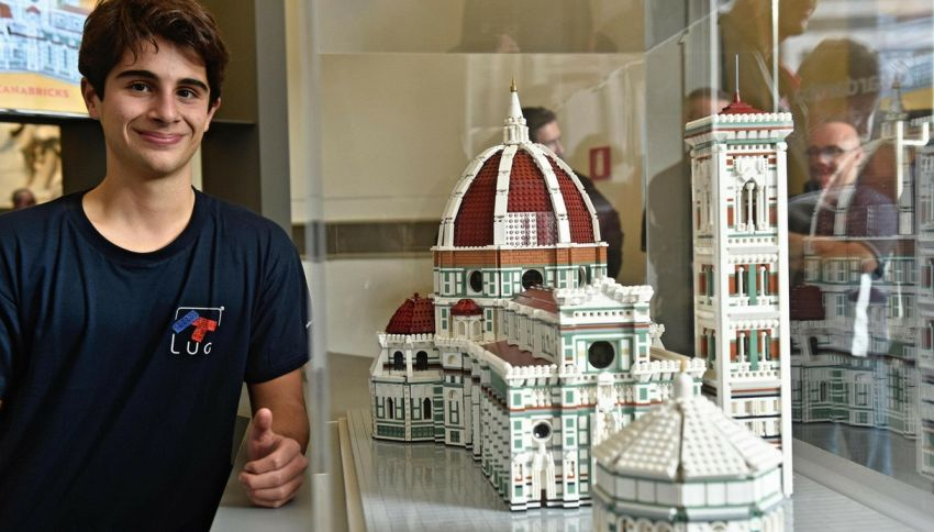 A 17 anni costruisce la cupola del Brunelleschi con il Lego