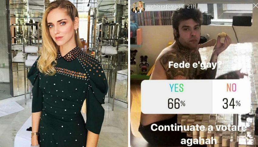 Il sondaggio di Chiara Ferragni su Fedez vorrebbe far ridere