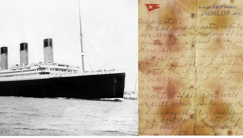 All'asta la lettera scritta sul Titanic prima del naufragio