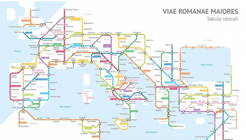 Le antiche strade romane si trasformano in linee della metro