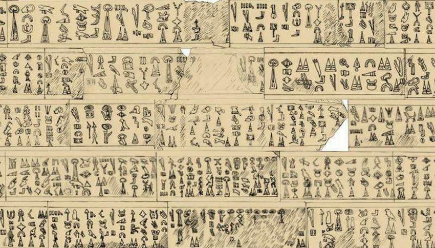 Archeologi decifrano una misteriosa scritta di 3200 anni fa