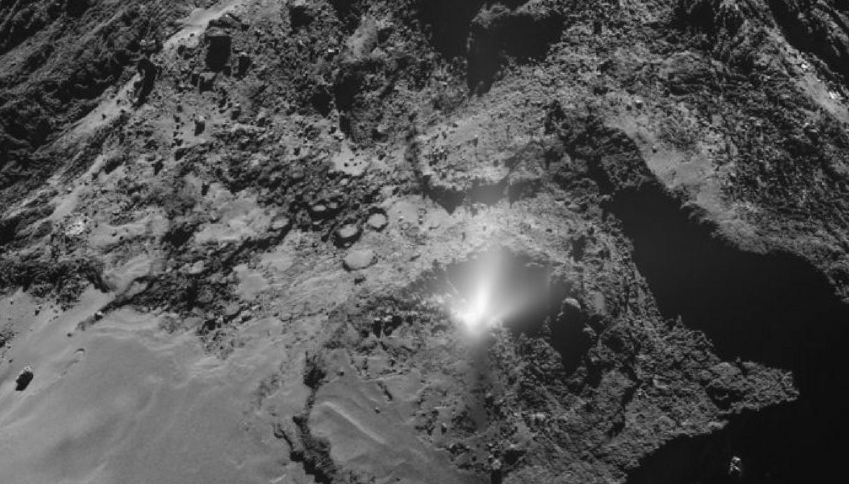 Captata una misteriosa energia nella cometa 67P