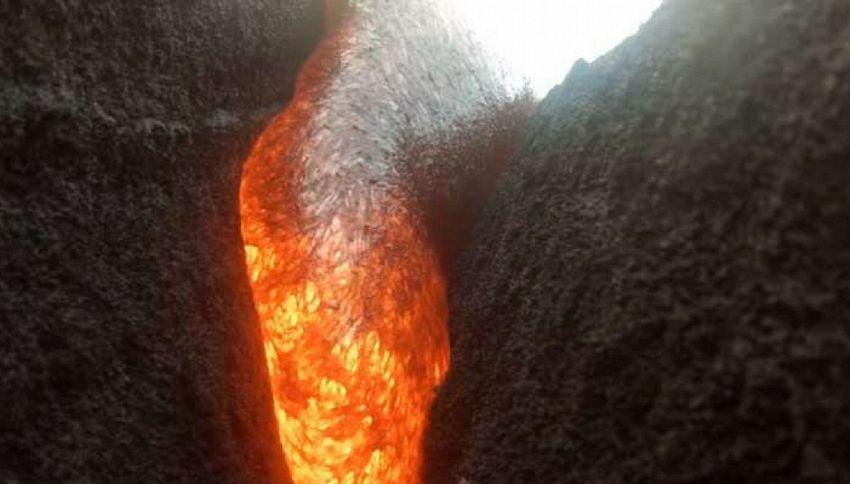 La GoPro nel vulcano: filma fino a fondersi nella lava