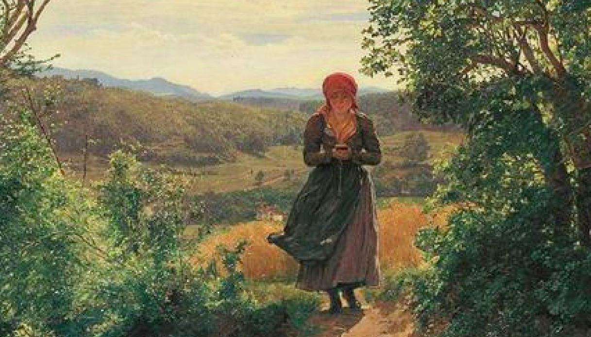 In un dipinto del 1850 c'è una donna che usa uno smartphone