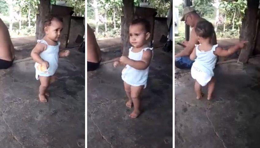 Panama, la bimba che ha imparato prima a ballare che a camminare