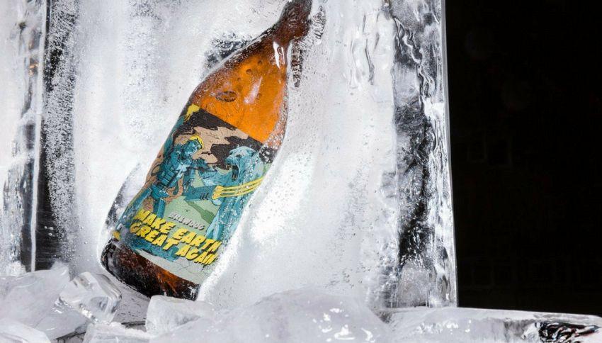Ecco la birra salva clima fatta con le calotte polari sciolte