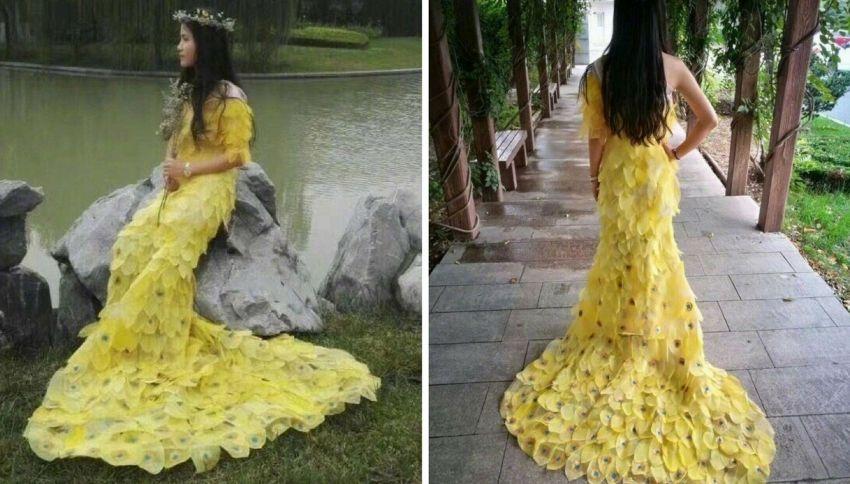 Un vestito di sole foglie, l'impresa degli studenti cinesi