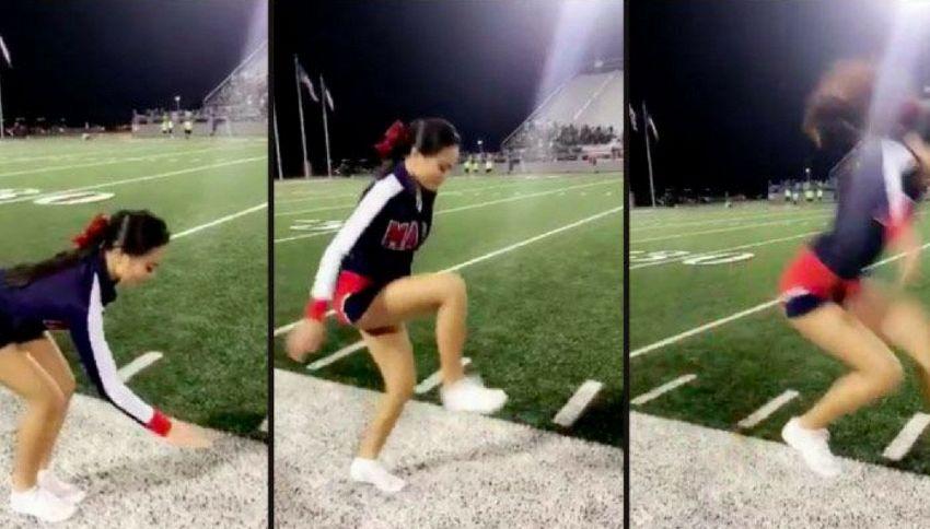 La cheerleader che riesce a camminare nel vuoto